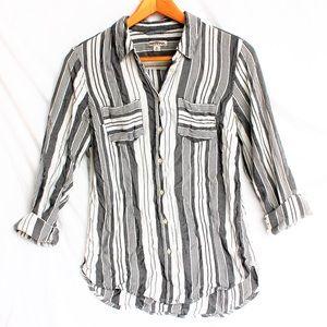Merona • Linen button down shirt • Sz M